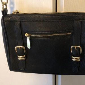 Handbags - Beautiful black vegan leather crossbody bag